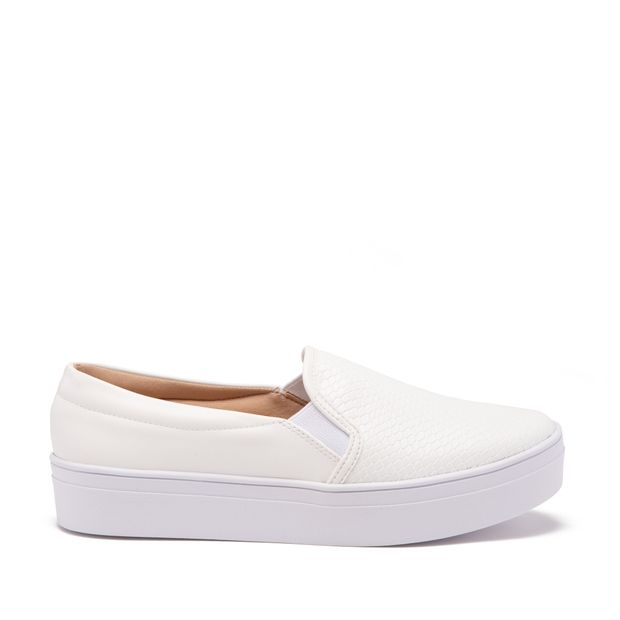 Tenis-Slip-On-Croco-Branca
